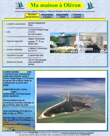 location maison oleron 17370